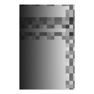 """Modelo gris, blanco y negro de los cuadrados folleto 5.5"""" x 8.5"""""""