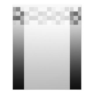 """Modelo gris, blanco y negro de los cuadrados folleto 4.5"""" x 5.6"""""""