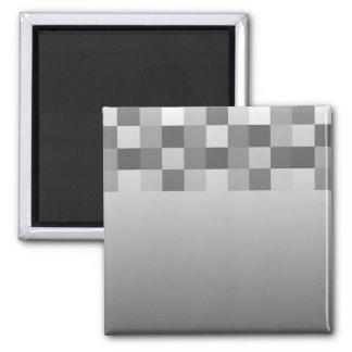 Modelo gris, blanco y negro de los cuadrados imán cuadrado