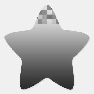 Modelo gris, blanco y negro de los cuadrados pegatina en forma de estrella