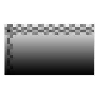 Modelo gris, blanco y negro de los cuadrados tarjetas de visita