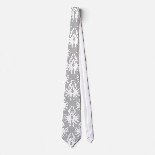 Modelo gris blanco y pálido del damasco corbata