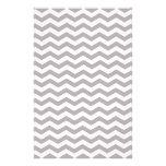 Modelo gris claro y blanco de Chevron del zigzag Papeleria De Diseño