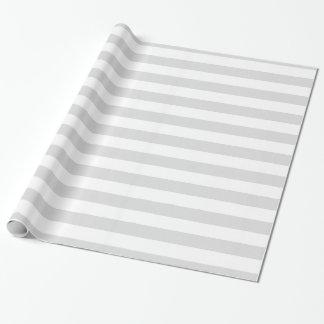 Modelo gris claro y blanco de la raya del XL Papel De Regalo