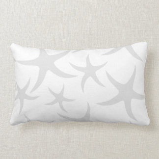 Modelo gris claro y blanco de las estrellas de mar cojines