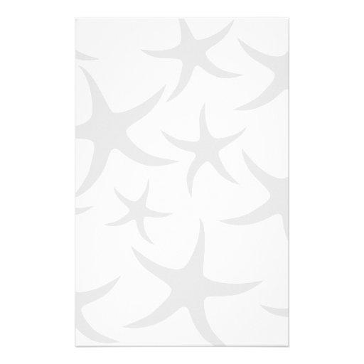 Modelo gris claro y blanco de las estrellas de mar papeleria