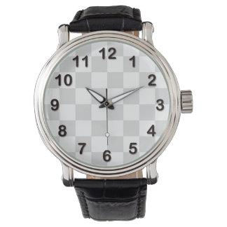 Modelo gris claro y blanco del inspector reloj de mano