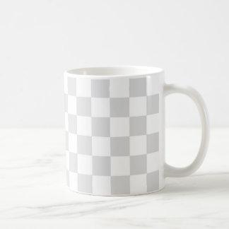 Modelo gris claro y blanco del inspector taza de café