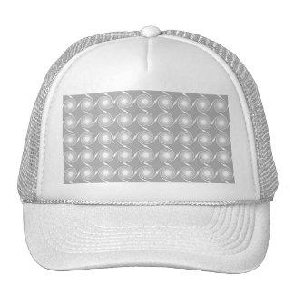 Modelo gris claro y blanco del remolino gorra