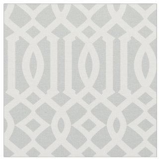 Modelo gris claro y blanco elegante del enrejado telas
