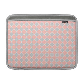 Modelo gris coralino de Macbook Quatrefoil Fundas Para Macbook Air