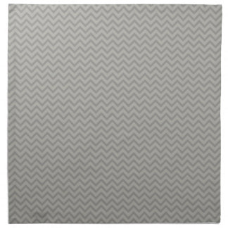 Modelo gris de Chevron Servilletas Imprimidas