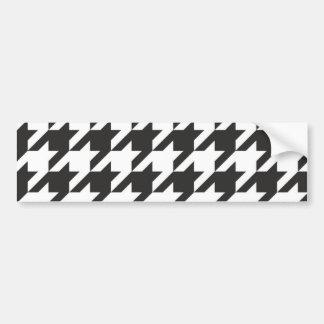 Modelo gris de Houndstooth, blanco y negro inconsú Pegatina Para Auto
