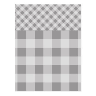 Modelo gris de la guinga del guijarro postal