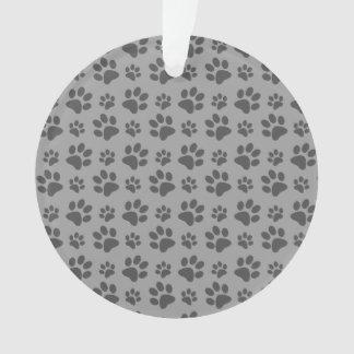 Modelo gris de la impresión de la pata del perro