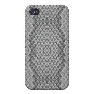 Modelo/gris de la piel de serpiente iPhone 4 carcasa