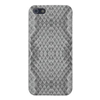 Modelo/gris de la piel de serpiente iPhone 5 funda