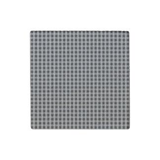 Modelo gris de la tela escocesa del control de la imán de piedra
