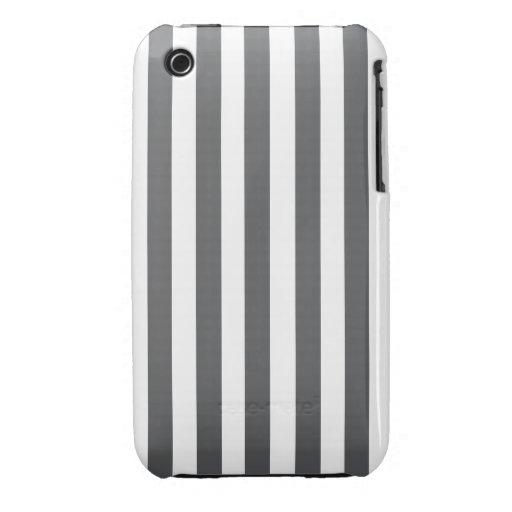 Modelo gris de las rayas de la MOD Case-Mate iPhone 3 Cobertura