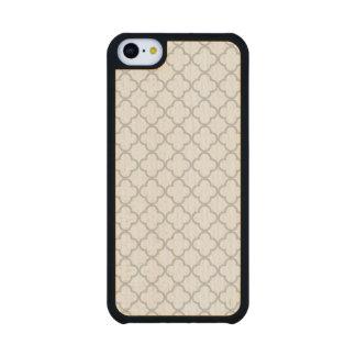 Modelo gris de Quatrefoil, su monograma Funda De iPhone 5C Slim Arce
