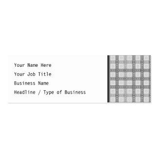 Modelo gris del control tarjetas de visita mini