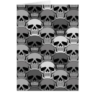 Modelo gris del cráneo que entrelaza tarjeta de felicitación