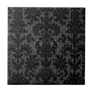 modelo gris del damasco del falso negro del cordón azulejo cuadrado pequeño