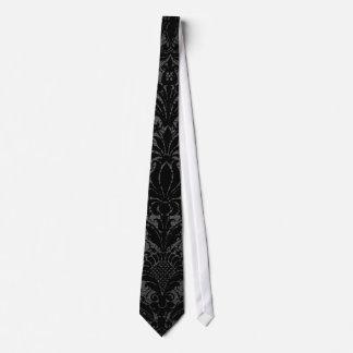 modelo gris del damasco del falso negro del cordón corbata