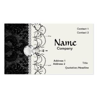 modelo gris del damasco del falso negro del cordón plantilla de tarjeta personal