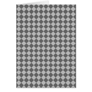 Modelo gris del diamante de la combinación tarjeta de felicitación