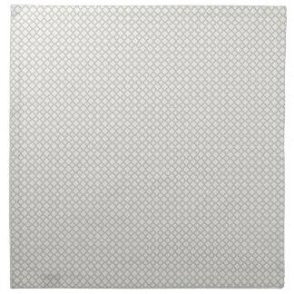 Modelo gris del diamante servilleta