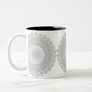 Modelo gris del diseño del cordón tazas de café