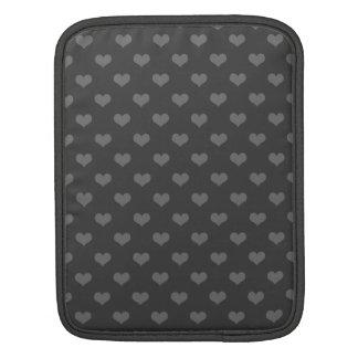 Modelo gris del emo de los corazones de la burbuja fundas para iPads