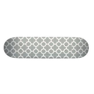 Modelo gris del enrejado de Quatrefoil Patin