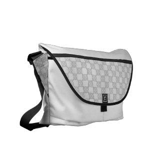 Modelo gris del remiendo bolsas messenger