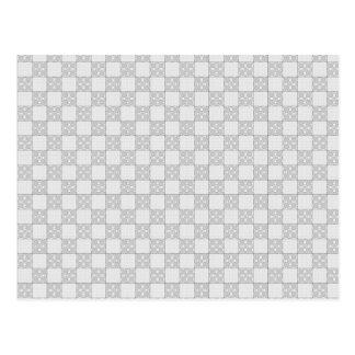 Modelo gris del remiendo tarjetas postales