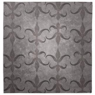 Modelo gris gótico elegante servilleta de papel