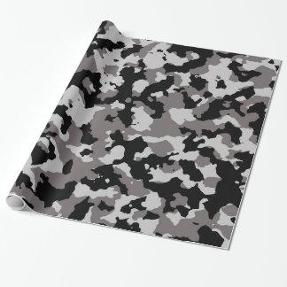 Modelo gris militar del camuflaje papel de regalo