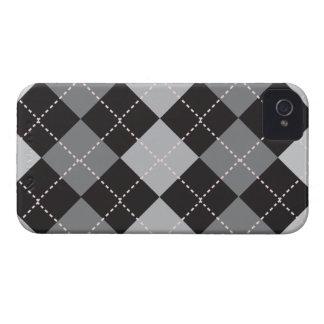 Modelo gris negro de Argyle Case-Mate iPhone 4 Funda