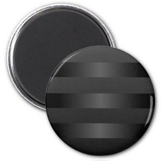 Modelo gris negro de las rayas imán redondo 5 cm