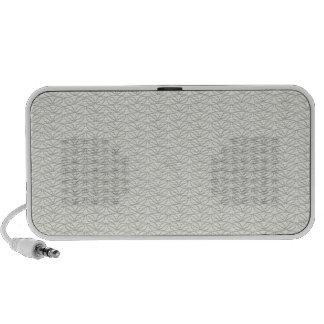 Modelo gris neutral moderno de la hoja laptop altavoces