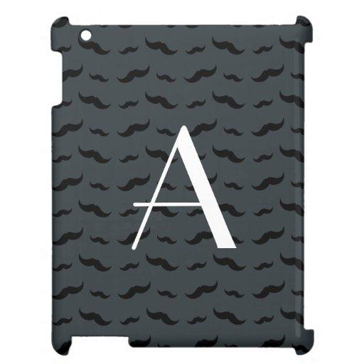 Modelo gris oscuro del bigote del monograma