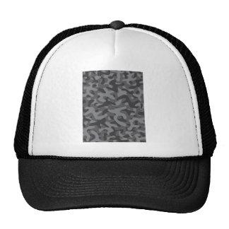 Modelo gris oscuro del camuflaje gorras de camionero