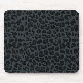 modelo gris oscuro del estampado leopardo alfombrilla de ratones