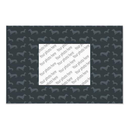 Modelo gris oscuro lindo del dachshund impresión fotográfica