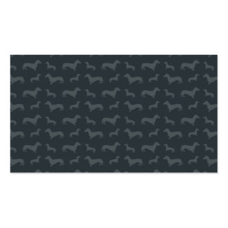 Modelo gris oscuro lindo del dachshund tarjeta personal