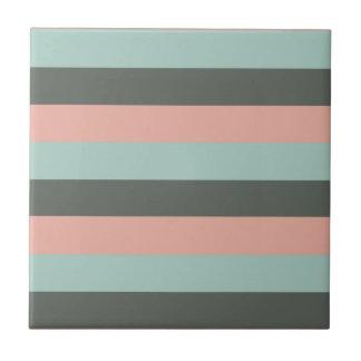 Modelo gris rosado de las rayas del trullo azulejo cuadrado pequeño