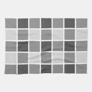 Modelo gris tejado toallas