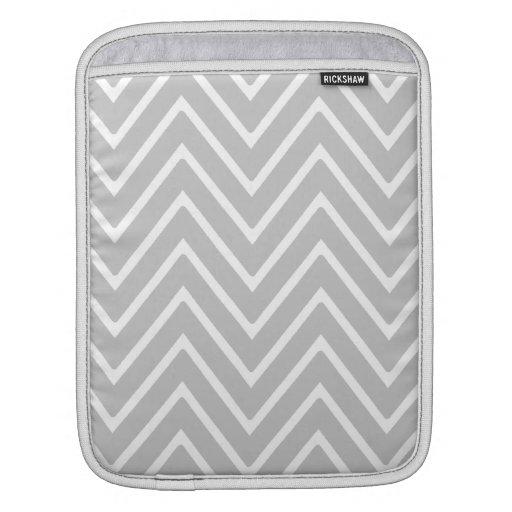 Modelo gris y blanco 2 de Chevron Fundas Para iPads