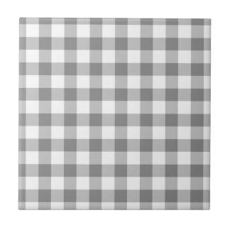 Modelo gris y blanco del control de la guinga azulejo cuadrado pequeño
